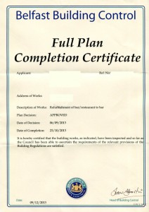 B-CONTROL COMPLETION CERTIFICATE
